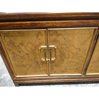1980s Asian Thomasville Mystique Credenza With Gold Leaf Preview