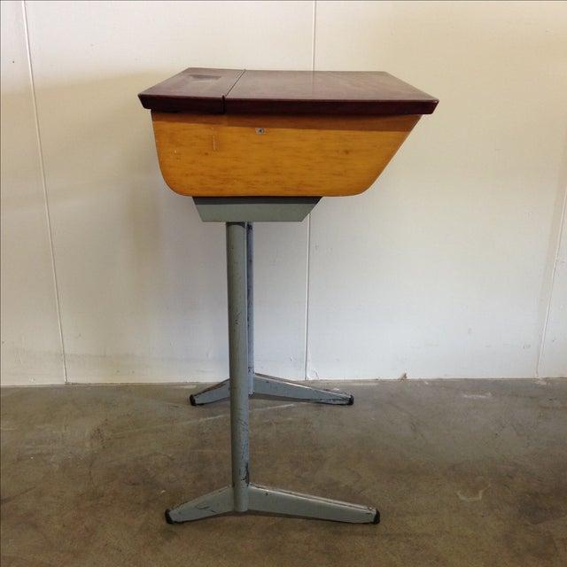 Vintage 1960s Children's School Desk For Sale - Image 4 of 8