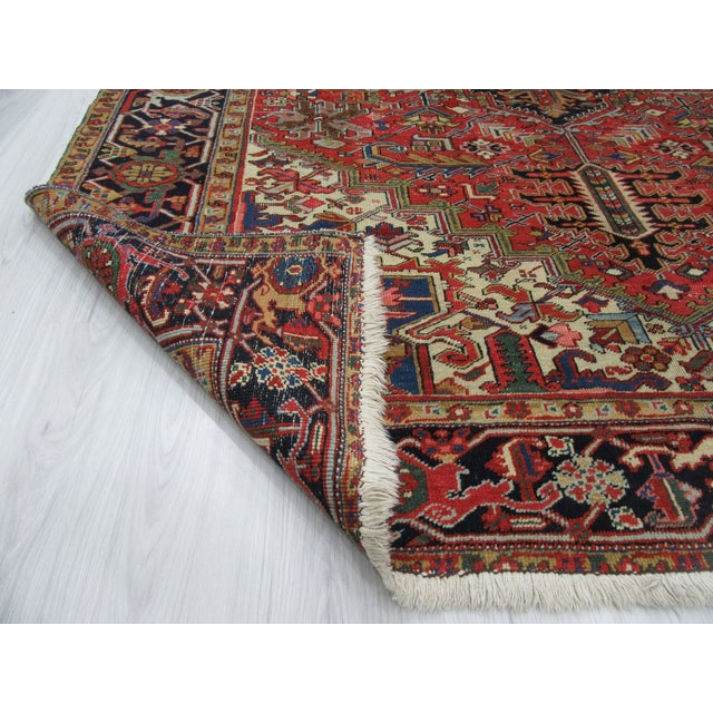 1920s Large Vintage Persian Hareez Wool Rug - 7′9″ × 11′5″ For Sale - Image 5 of 6