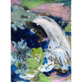 Contemporary Abstract Waterfall Mixed Media Painting For Sale