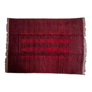"""Vintage Afghani Ersari Design Carpet - 9'1"""" X 12'3"""" For Sale"""