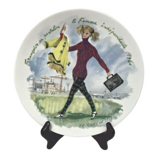 """Françoise en Pantalon, 1960"" Decorative Plate For Sale"