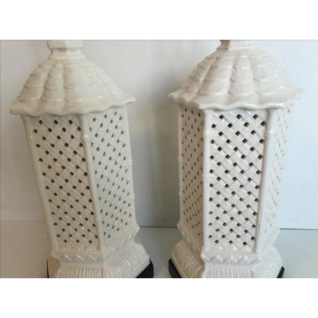 Nardini Studios Pagoda Lamps - Pair - Image 3 of 6