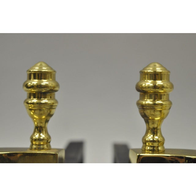 Williamsburg Style Branch Foot Ball & Claw Andirons - A Pair For Sale In Philadelphia - Image 6 of 13