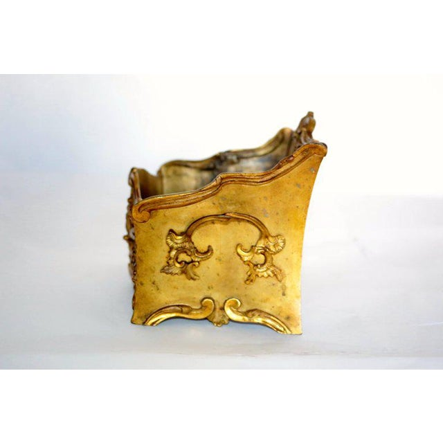 19th Century French Decorated Gilt Bronze Box - Image 6 of 11