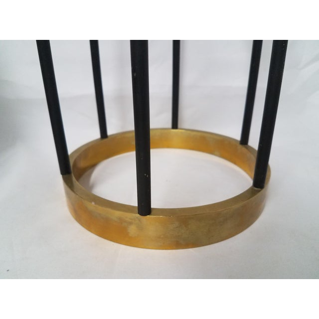 Mid-Century Brass Candle Stick Holder For Sale In Phoenix - Image 6 of 11