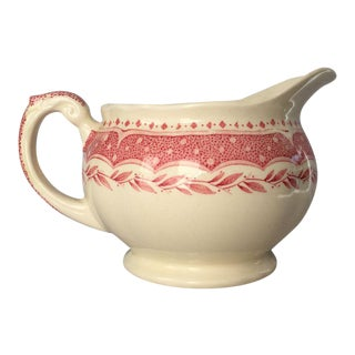 Vintage Pink & Cream Pitcher/Creamer For Sale