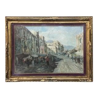 Antique Impressionist Framed Oil Painting by Francesco Filosa (1910-1990) For Sale