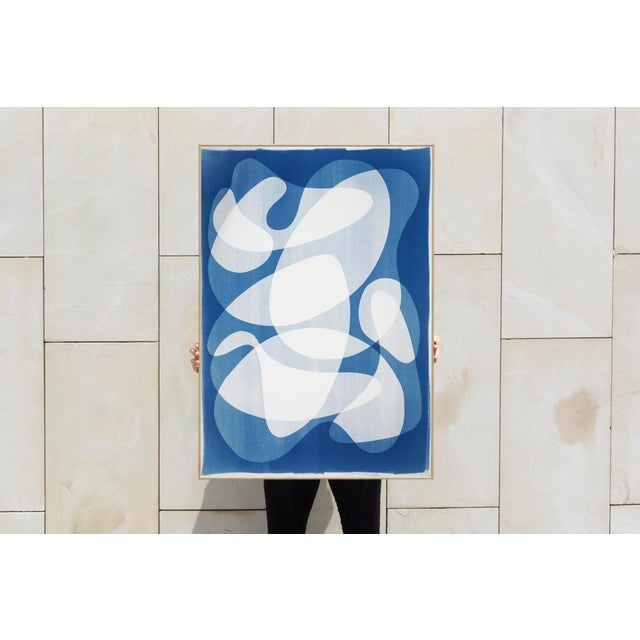 Mid-Century Modern 2020 Contemporary Abstract Cyanotype Cutout by Kind of Cyan For Sale - Image 3 of 11
