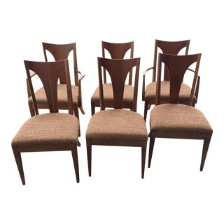 1970s Vintage Broyhill Dining Chairs- Set of 6 For Sale