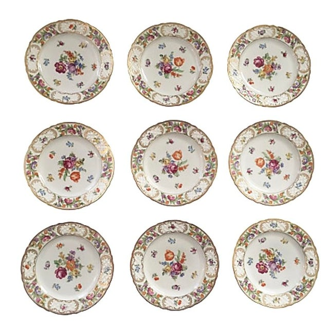 Mid 20th Century Vintage Schumann Empress Luncheon Plates - Set of 9 For Sale - Image 5 of 5