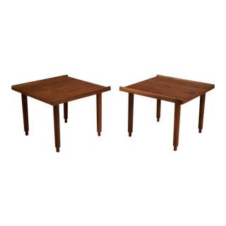 Vintage Mid-Century Charles Pechanec Walnut Side Tables For Sale