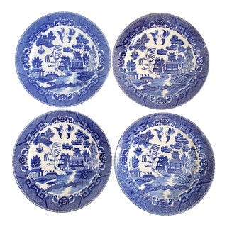 "Antique ""House of Blue Willow"" Made in Japan Dinner Plates-Set of 4 For Sale"
