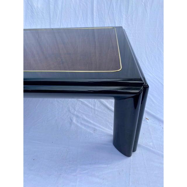 Black 1970s Henredon Scene III Burl Coffee Table For Sale - Image 8 of 13