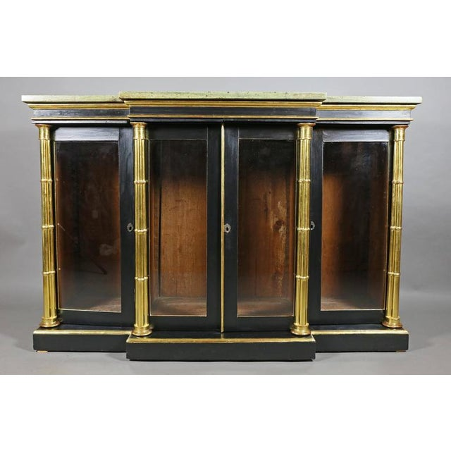 Regency Ebonized and Giltwood Credenza For Sale - Image 9 of 9