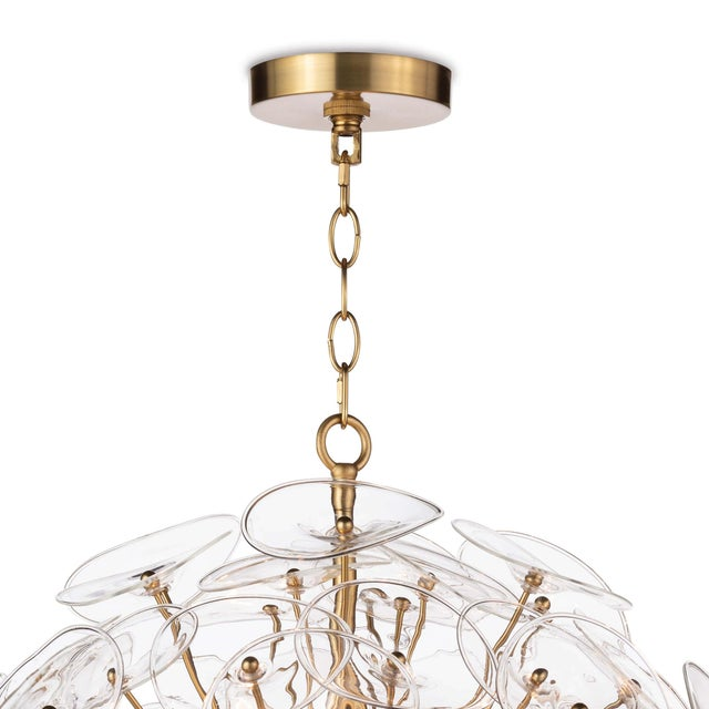 Poppy Glass Chandelier Small in Clear For Sale - Image 4 of 6