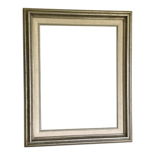Silver and Linen Matted Frame