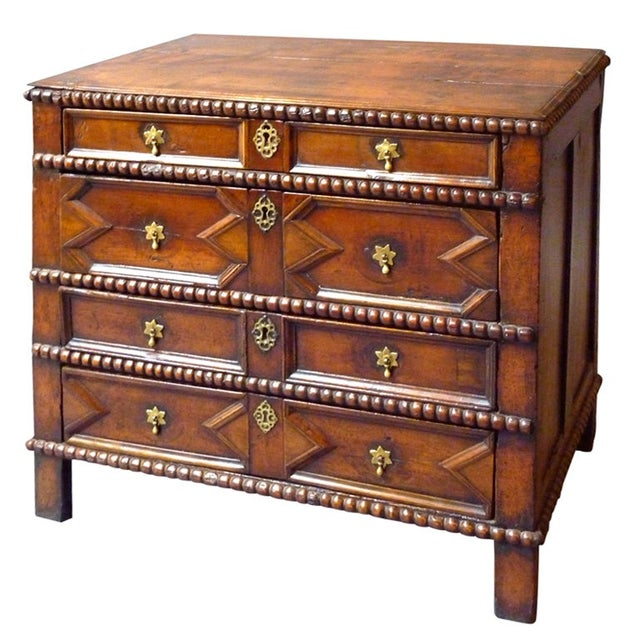 Brown 17th Century English Moulded Chest of Drawers For Sale - Image 8 of 8