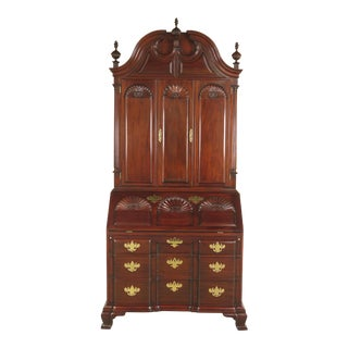 Kindel Winterthur Collection Mahogany UpDyke Secretary Desk