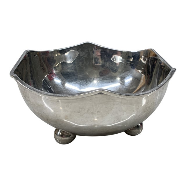Vintage Mid-Century Mexican Sterling Silver Bowl For Sale