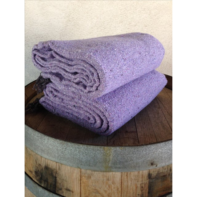 Mexican BohoYoga/ Beach Blanket in Lavender - Image 3 of 3