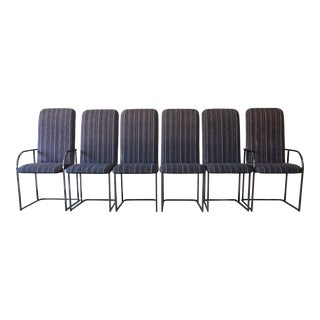 Modern Chrome High Back Dining Chairs by the Design Institute of America - Set of 6 For Sale