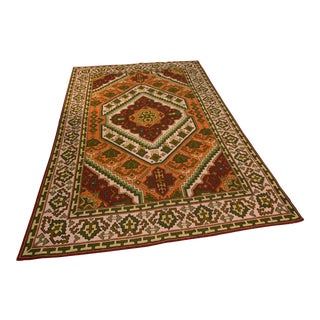 Indian Hand-Knotted Rug - 6′2″ × 9′4″ For Sale