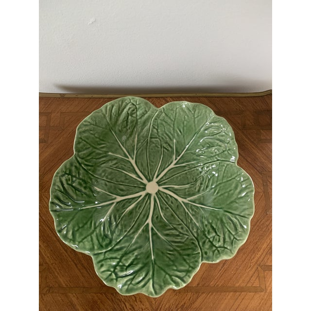 A lovely vintage Portuguese ceramic cabbage bowl.