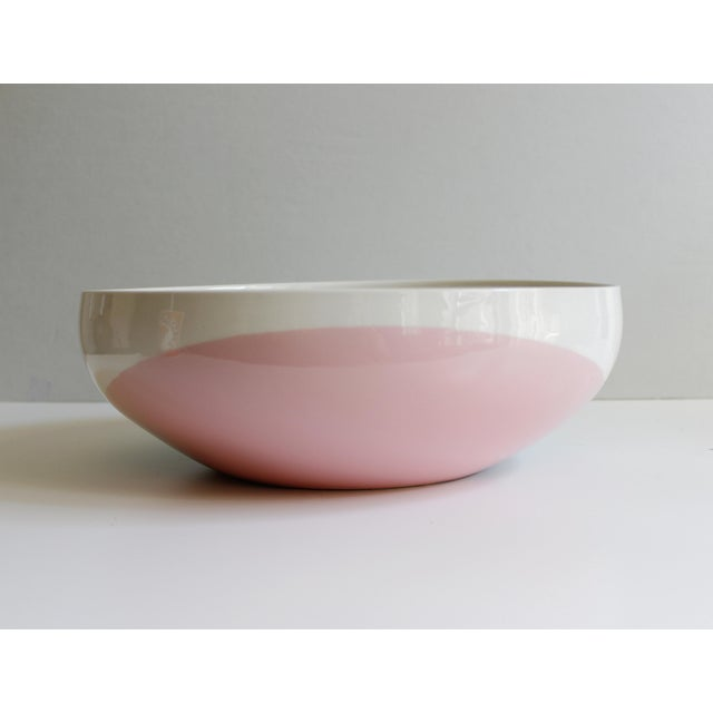 Mid-Century Modern Eva Zeisel for Hall China Tritone Ceramic Serving Bowl For Sale - Image 3 of 5