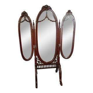 Full Length Three-Way Dressing Mirror