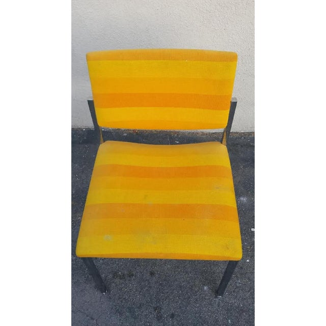 Steelcase Yellow Mid-Century Style Arm Chair - Image 3 of 5