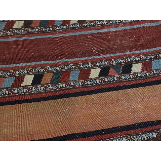 Antique Shahsavan Kilim For Sale - Image 9 of 9