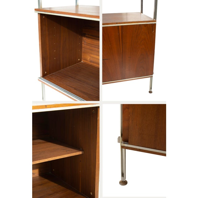 Metal Walnut and Aluminum Cabinet by Hugh Acton For Sale - Image 7 of 13