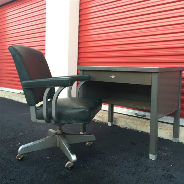 Industrial Industrial Age Desk With Drawer by Art Steel For Sale - Image 3 of 11