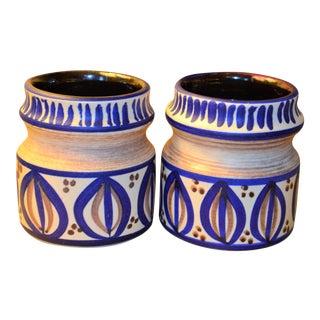 Mid-Century Modern West German Bay Keramik Pottery - A Pair
