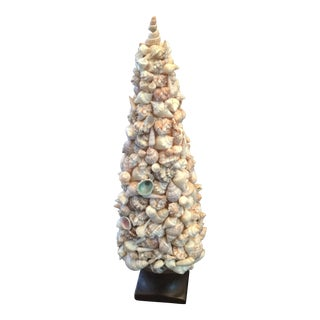 Mid Century Shell Art Topiary For Sale