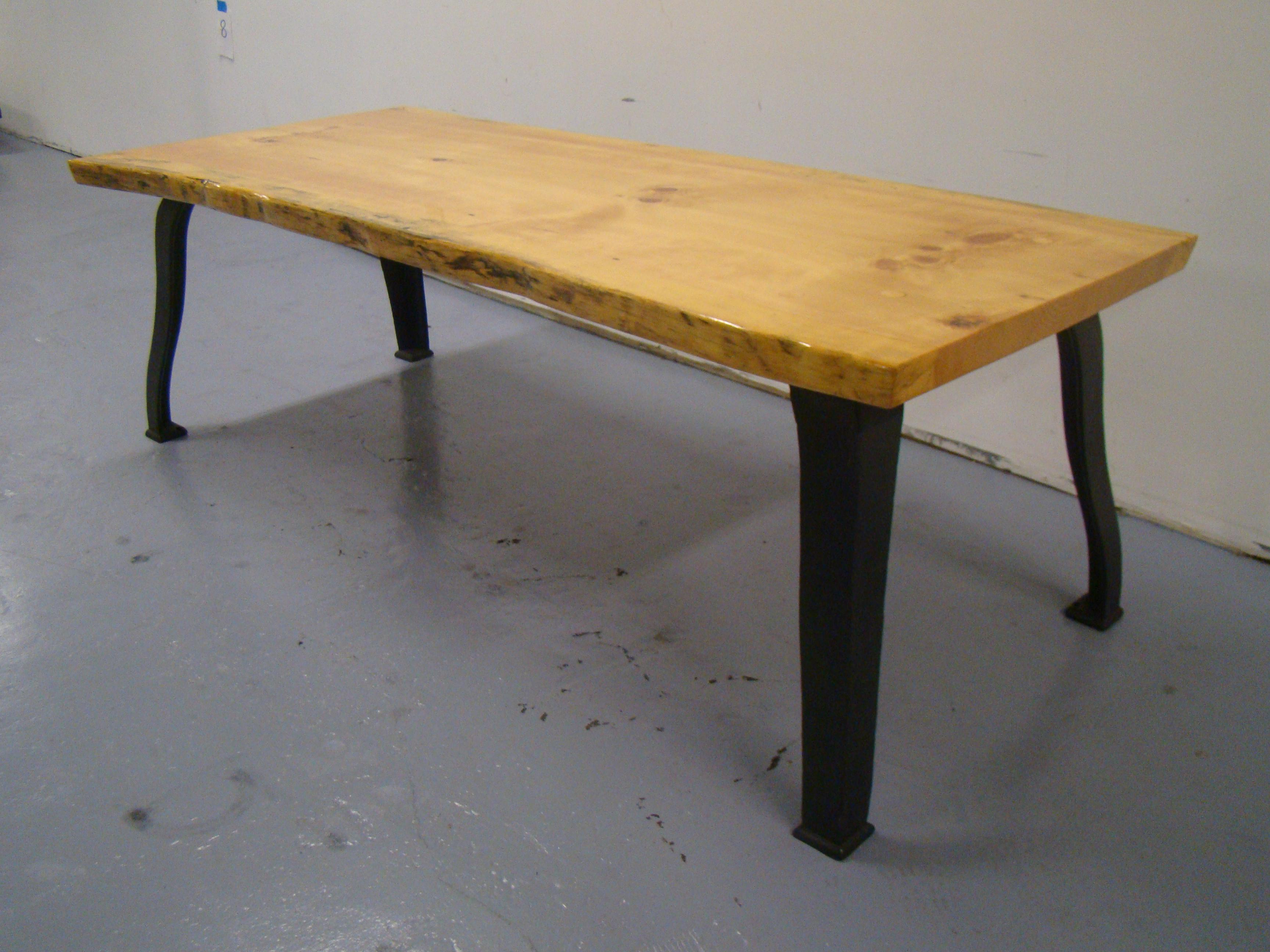 8 foot dining table formal dining industrial modern style pine live edge 8foot dining table for sale image chairish