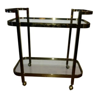 Vintage Milo Baughman Brass Bar Cart