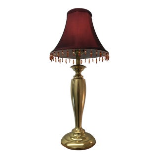 Stiffel Heavy Brass Vase Table Lamp & Shade - a Pair For Sale