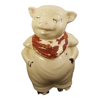 Early Shawnee Pottery Smiling Pig Cookie Jar