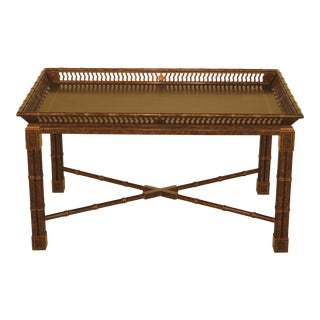 John Widdicomb Chinese Chippendale Paint Decorated Coffee Table For Sale