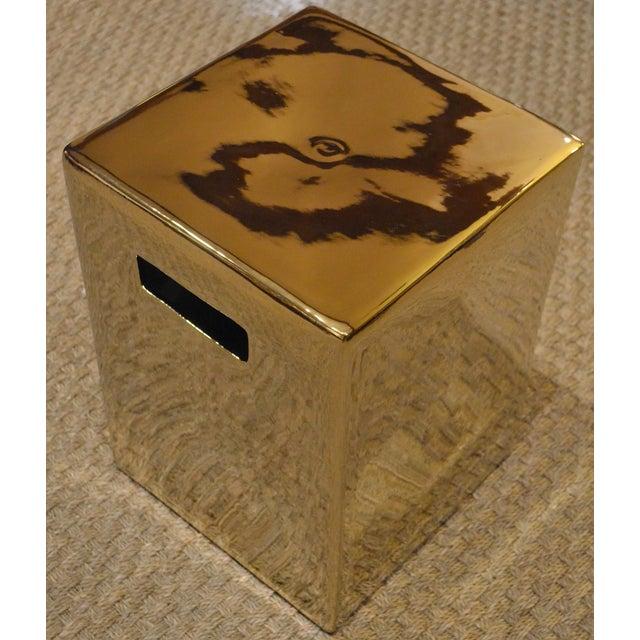 Gold Cube Ceramic Stool - Image 7 of 7