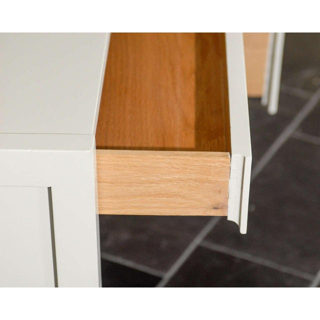 Beautiful Landstrom Modern Desk in Cream Lacquer For Sale - Image 9 of 11