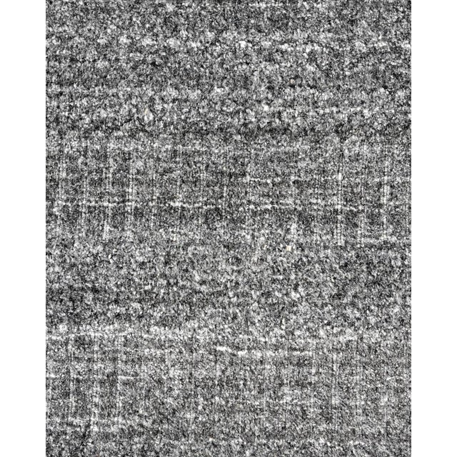 Textile Sanam, Contemporary Solid Hand Loomed Area Rug, Dark Gray, 5 X 8 For Sale - Image 7 of 9
