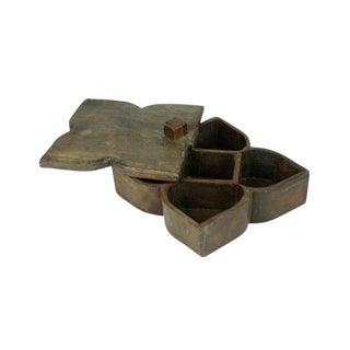 Wooden Masala Box