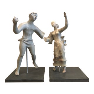 1930s Treasure Island Romanesque Style Plaster Figure Sculptures Study For Sale