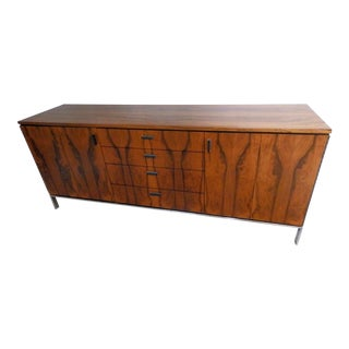 1960s Danish Modern Harvey Probber Rosewood and Chrome Credenza For Sale