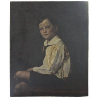 Early 20th Century Portrait of a Young Boy For Sale