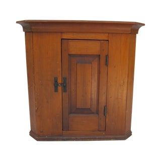 Cherry Wood Corner Cupboard For Sale