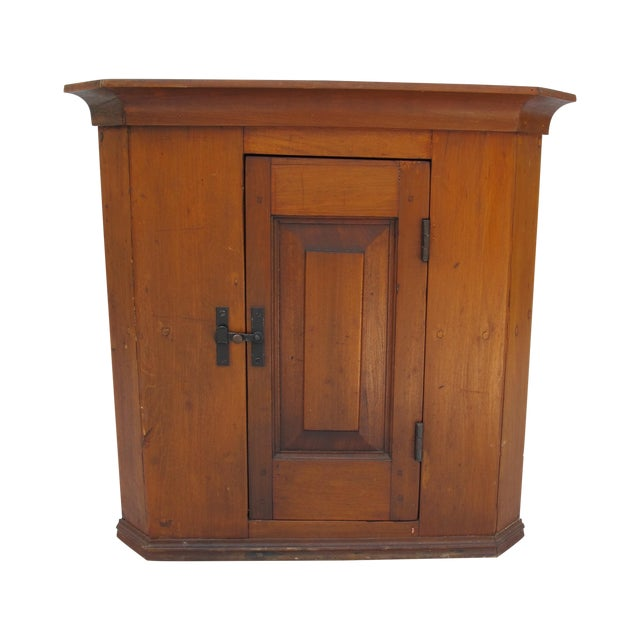 Cherry Wood Corner Cupboard - Image 1 of 11
